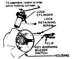 Cadillac Deville: HOW TO CHANGE KEY SWITCH