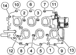2001 Ford windstar intake manifold torque specs
