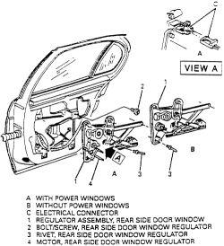 1998 Buick Century Window Regulator Diagram. Buick. Auto