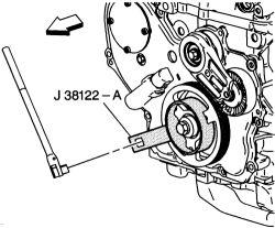Line up a timing change on 2004 Oldsmobile Alero 4 cylinder?