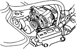 How do you remove a alternator from a chevy geo metro lsi