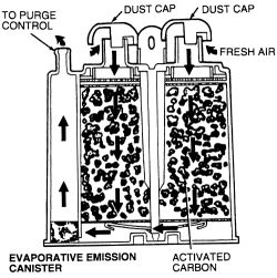 Canister Purge Valve Operation, Canister, Free Engine