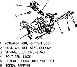 1983 Toyota Wiring Diagram Repair Guides Steering Ignition Lock Cylinder