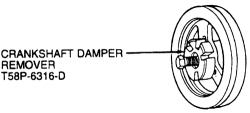 96 mercury sable: harmonic balancer..flywheel..pulley..the bolt off