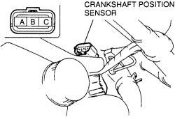 crankshaft position sensor located at on a 95 mazda 626 4
