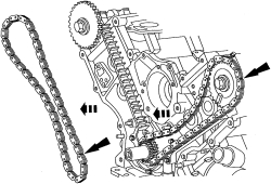 Service manual [2007 Isuzu I Series Timing Chain Marks