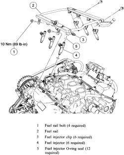 How To Change 2004 Freestar Fuel Rail Pressure Sensor