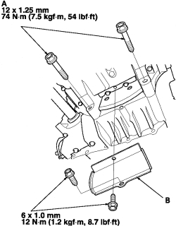 schematics and diagrams: How to replace Oil Pan on 2008