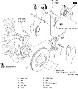 Service manual [How To Bleed Brakes 2010 Mazda Tribute
