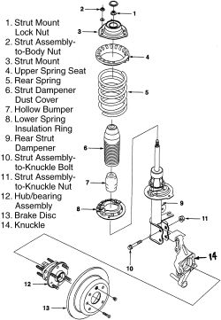 Strut Mount Diagram, Strut, Free Engine Image For User