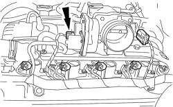 Where is the air idle control valve located on a 2001