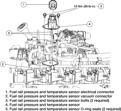Mercury Mountaineer Fuel Rail Pressure Sensor, Mercury