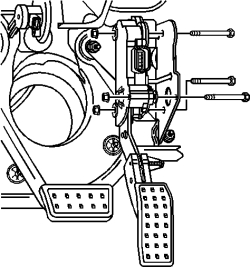 Service manual [2005 Cadillac Srx Clutch Pedal Removal