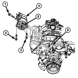 schematics and diagrams: How to remove compressor on Dodge