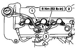 Mercury mariner: coil..v6..upper plenum of the intake manifold