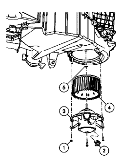 HowToRepairGuide.com: How to replace blower motor on 2004