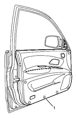 Service manual [2002 Isuzu Axiom Door Panel Removal