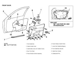 Service manual [1999 Mitsubishi Diamante Windows Door
