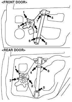 2004 mitsubishi lancer radio wiring diagram 2000 gmc   repair guides interior door glass & regulator autozone.com