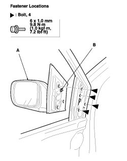 Side Mirror Motor Replacement Side Mirror Light Wiring