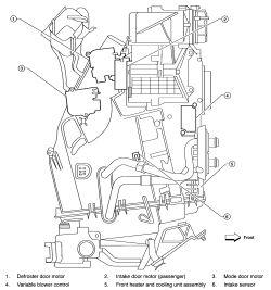 Nissan frontier blend door actuator