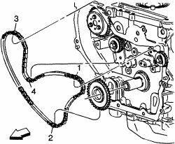Car belt diagrams: Timing chain installation for 2001