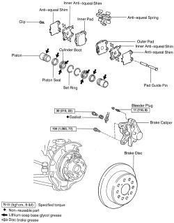 HowToRepairGuide.com: Removing Rear Brake Caliper on 2001