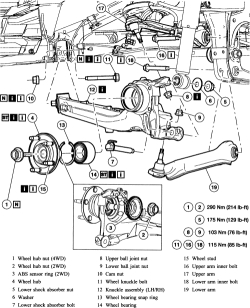 2005 Ford Escape Rear Suspension Diagram