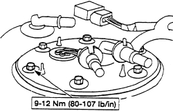 replace the fuel pump on a 2003 lincoln signature town car?