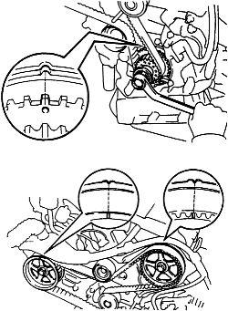 2006 Toyota Highlander 3.3L changing timing belt. on