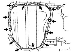 schematics and diagrams: How to remove Oil Pan on Toyota