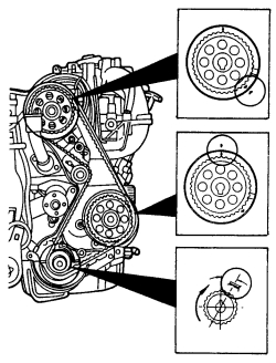2.3L ford engine timing marks