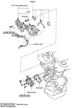 2000 Toyota Corolla Engine Exploded View, 2000, Free