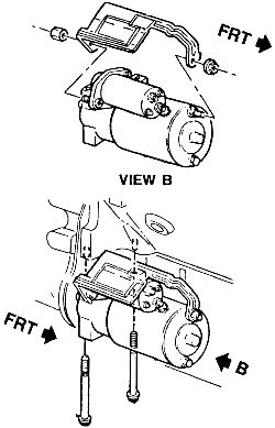 How to install a starter on a 1997 chevy 1500 pick up
