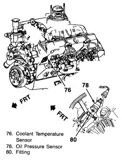 Engine Coolant Temperature Sensor, Engine, Free Engine
