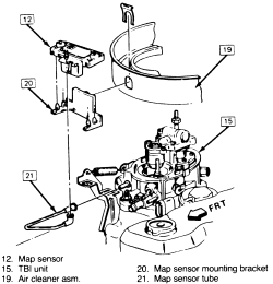 Manifold Absolute Pressure Sensor Location Ford Mustang