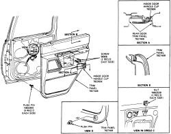 schematics and diagrams: Door Panels REMOVAL and