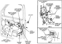 schematics and diagrams: Door Locks REMOVAL and