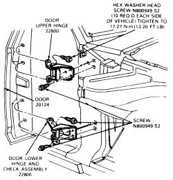 schematics and diagrams: Doors REMOVAL and INSTALLATION