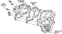 98 ranger replace water pump