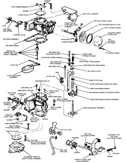 Ford Autolite 4100 Pull Choke Carburetors Schematics