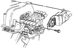 Chevrolet C3500 4x2: How to change ignition module 1988 7.4