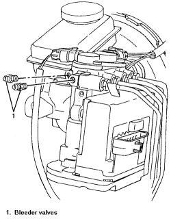 2006 grand prix: new caliper and brake line, front