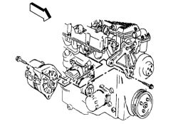 schematics and diagrams: How to replace alternator on GMC