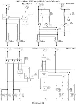 2000 Mazda 626 A C Relay Diagram