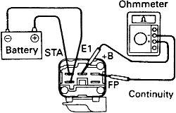 Testing toyota circuit opening relay