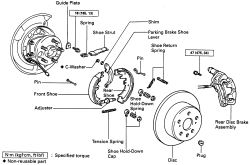 Parking brake adjustment toyota corolla