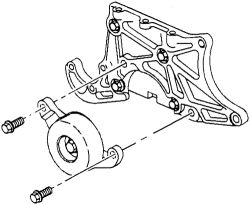 HowToRepairGuide.com: Drive Belt Diagram for 2001 Pontiac