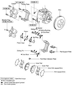 Anti squeal spring toyota camry