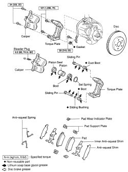 1999 toyota camry exhaust system diagram axxess wiring 2002 brake great installation of repair guides front disc brakes caliper autozone com rh parts